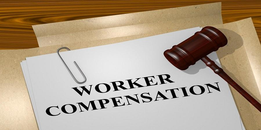 a workers compensation case file lying on the table